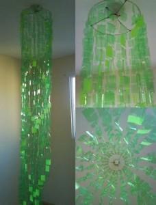 Lampara verde PET