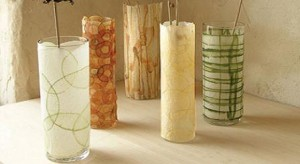 candelabros floreros reciclados