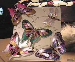 mariposas de plastico