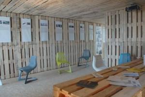 pallet house interior