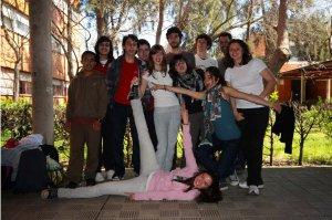 Los alumnos que han desarrollado el proyecto ganador posan juntos. :: HOY