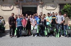 Alumnos de los colegios estuvieron presentes en el acto inicial del medio ambiente. :: S. C.