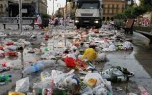 basura san fermin