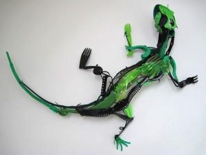 lagarto reciclado
