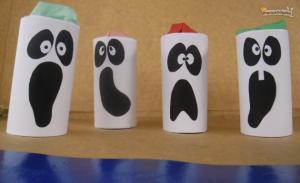 fantasmas de tubo de carton con sorpresa