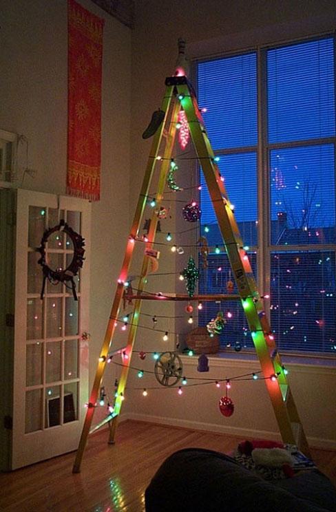 arbol navidad escalera