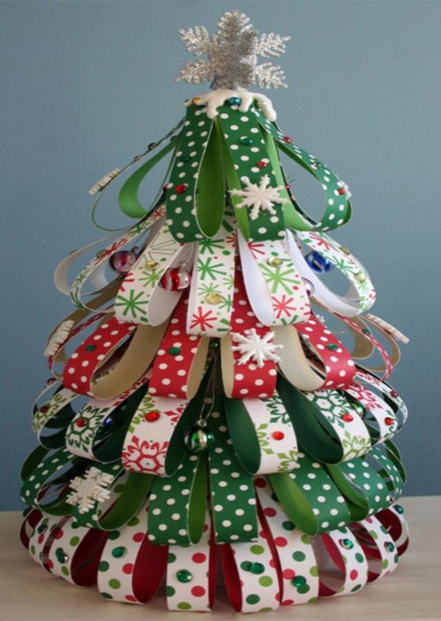 Especial de navidad rboles de navidad reciclados - Arbol de navidad de tela ...