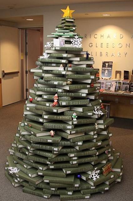 arbol navidad de libros