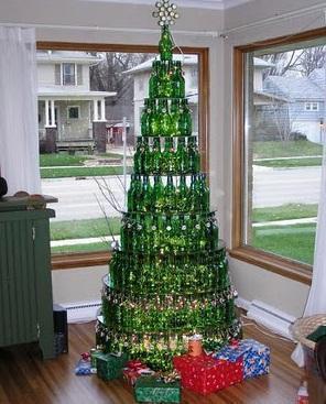 arbol navidad de botellas