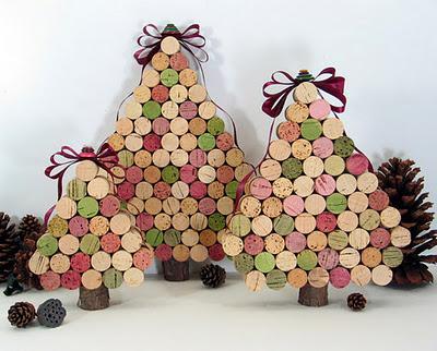 Especial de navidad rboles de navidad reciclados - Arbol de navidad de pared ...