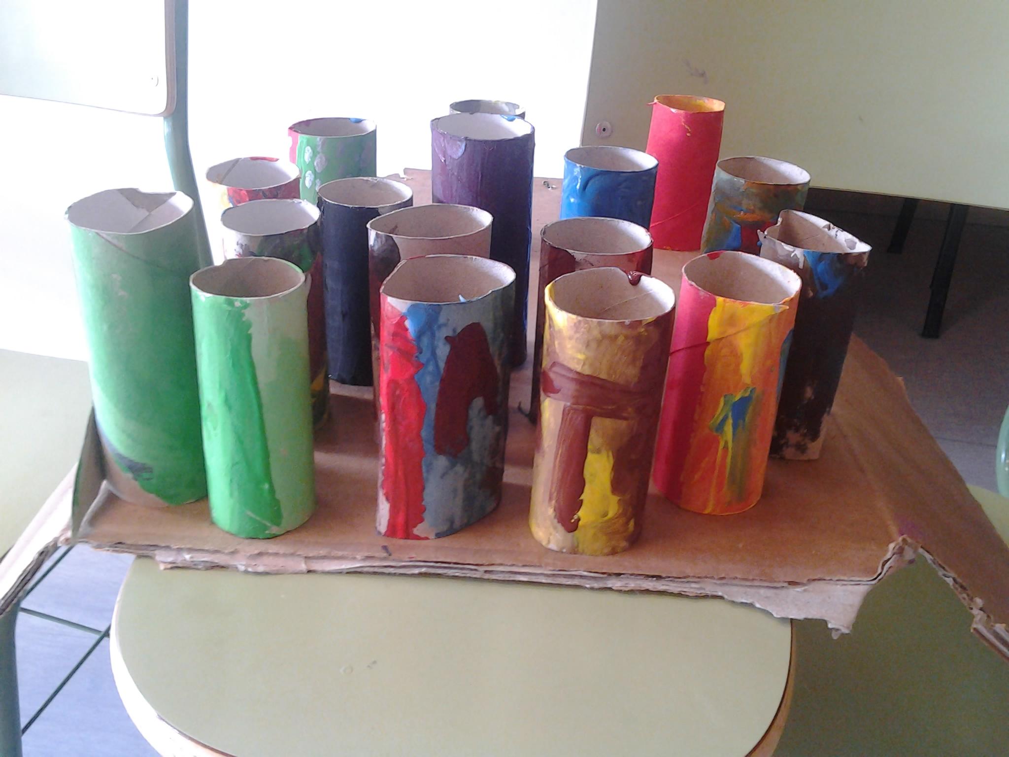lapiceros rollos de papel higienico